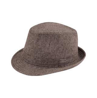 8931-Herringbone Fedora Hat