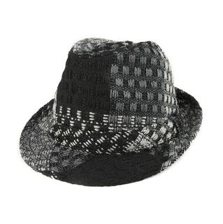 8936-Jacquard Fedora Hat
