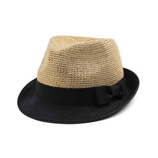 8950-Infinity Selections Raffia  Fedora Hat