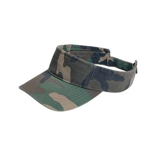 9021-Pro Style Washed Camouflage Visor