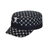 Youth Fitted Army Cap W/Skull Print