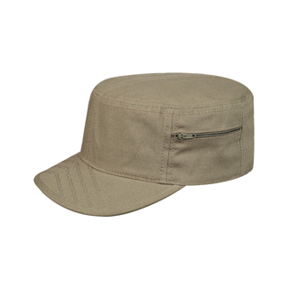 9042-Brushed Canvas Fashion Army Fitted Cap