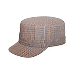 Ladies' Fashion Plaid Military Cap