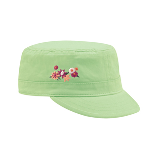 9048XY-Youth Peach Feel Cotton Fidel Army Cap