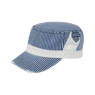 9049Y-Youth Washed Stripe Denim Fidel Army Cap