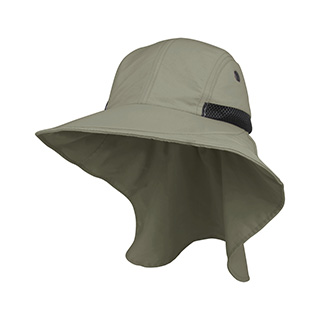 J7213A-Juniper Men's Nylon Wide Brim Flap Cap