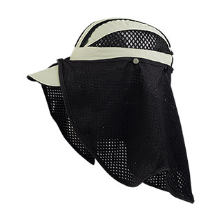 J7214-Juniper Taslon UV Cap w/ Removable Mesh Flap