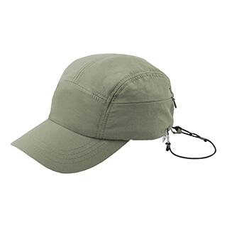 J7218-Juniper Outdoor Taslon Cap w/ Zipper Pocket