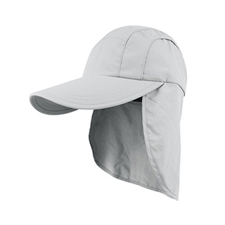 J7220-Juniper Taslon UV Cap w/ Flap & Draw String