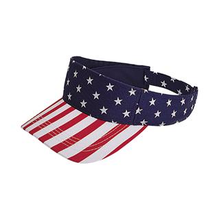 4024-Pro Style Twill USA Flag Visor