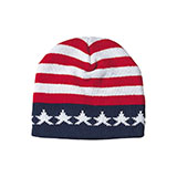 US Flag Acrylic Beanie